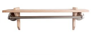 ... Shelf Co. Oak Towel Bar Shelf - Bathroom Cabinets And Shelves | Houzz