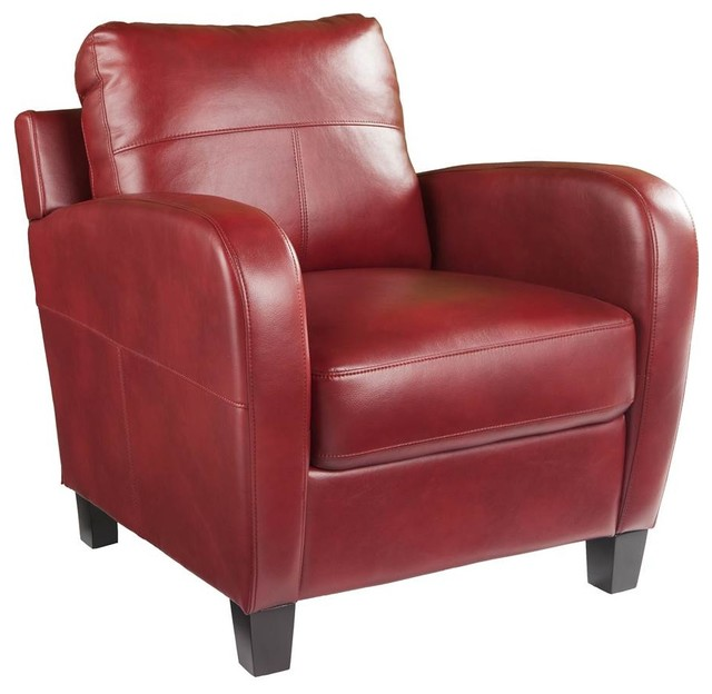 Bolivar Lounge Chair, Cherry Red.