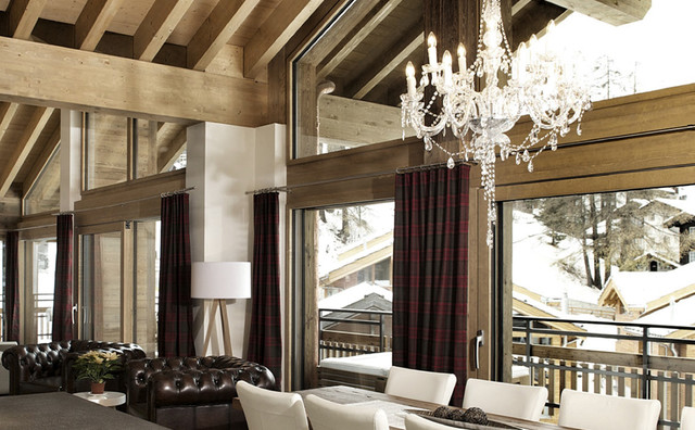 Modern chalet style zermatt modern von christian for Chalet modern einrichten