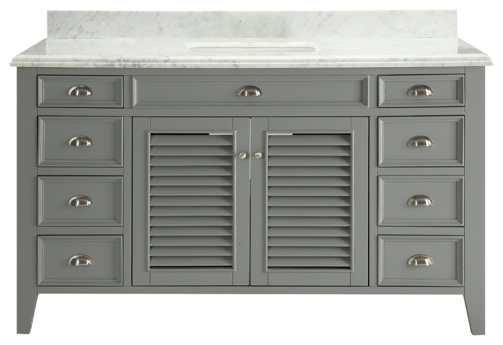 "60"" All Wood construction Kalani Bathroom Single Sink ..."