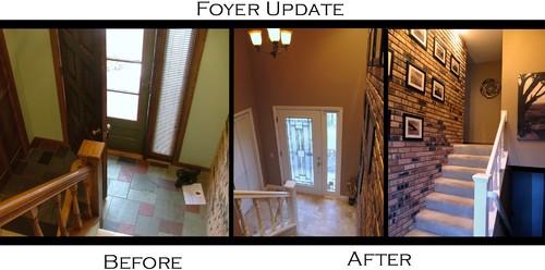 Before and after 70 39 s split entry foyer updated for 70s home exterior remodel
