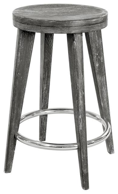 Gerhard Modern Classic Limed Gray Wood Counter Stool