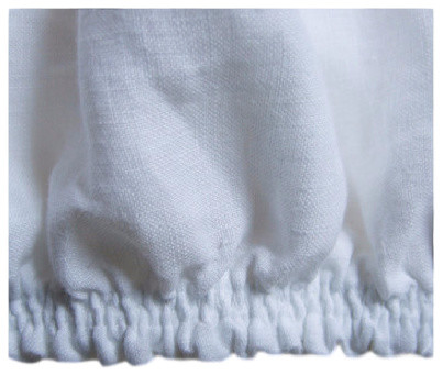 100% Linen Fitted Sheet Deep Pocket Elastic All Around ...
