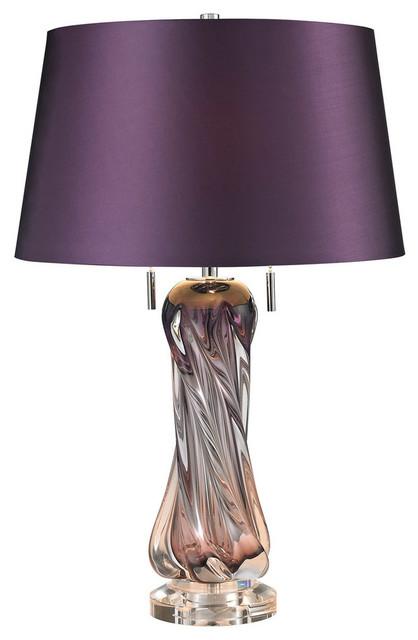 Vergato 2-Light Table Lamp, Purple.