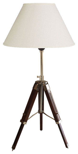 1940s hollywood style tripod table lamp hand rubbed walnut with 1940s hollywood style tripod table lamp hand rubbed walnut with chrome traditional table aloadofball Images