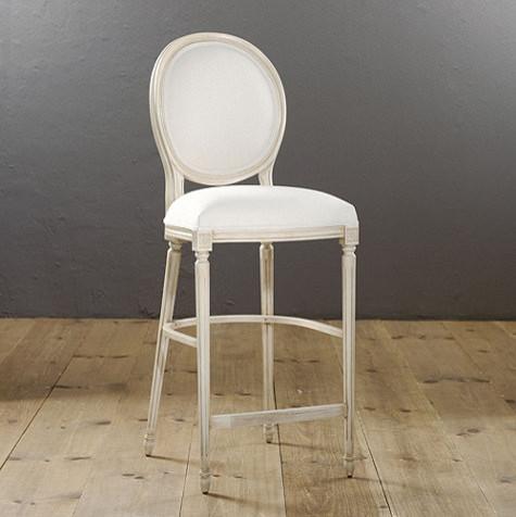Oval Louis XVI Barstool traditional-bar-stools-and-counter-stools - Oval Louis XVI Barstool - Traditional - Bar Stools And Counter