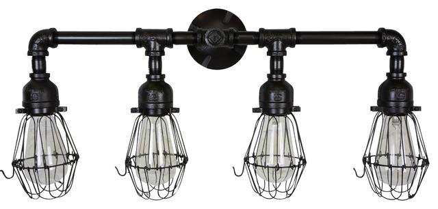 industrial bathroom lighting motief edison era vanity light amp reviews houzz 13228