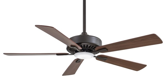 "52"" Contractor Plus Led Ceiling Fan, Oil Rubbed Bronze."