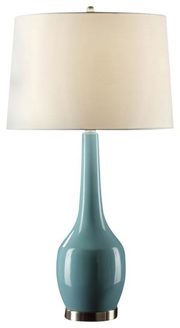 Crestview Cvap1344c Nina Blue Table Lamp