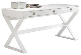 - Emilo White High Gloss Desk/ Console Table & Reviews | Houzz