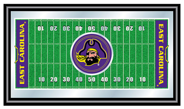 East Carolina University Framed Football Field Mirror  : game room wall art and signs from www.houzz.com size 640 x 380 jpeg 130kB