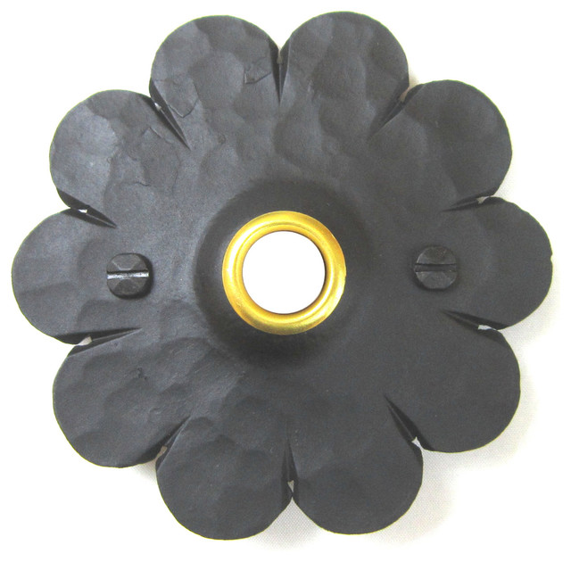 Rustic Spanish Style Mediterranean Rosette Wrought Iron