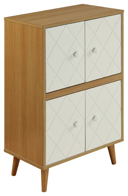 Acme Airlia Cabinet, Natural And White.