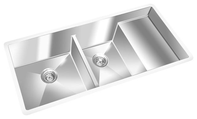 "Gemini Undermount S/s Kitchen Sink, 10mm Radius Corners, 42.75""x19""."