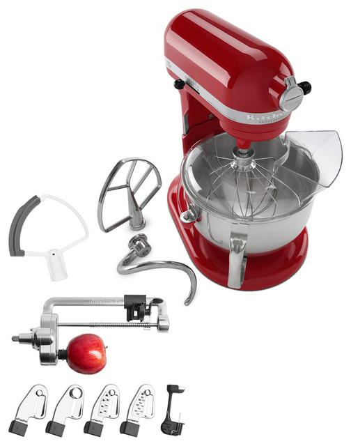 Professional 600 Series 6 Qt. Bowl-Lift Stand Mixer, Empire Red, And Accessories.