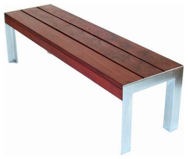 Awesome Small Outdoor Bench Part - 2: Modern Outdoor - 5u0027 Etra Small Bench Contemporary-outdoor-benches