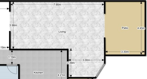 Furniture Arrangement In L Shaped Living/Dining Room