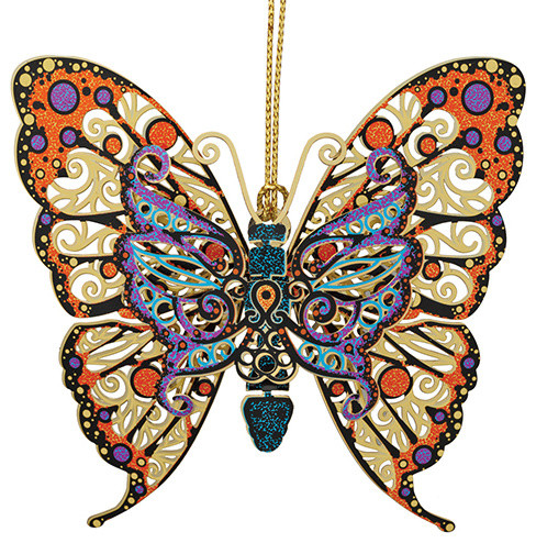 Vibrant Butterfly Ornament Contemporary Christmas Ornaments By