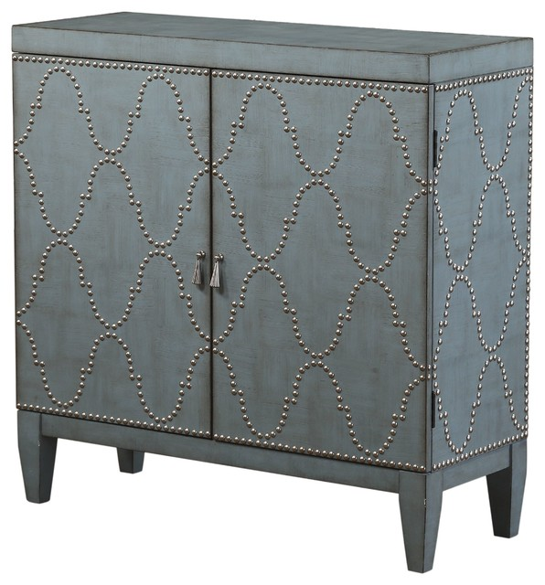 Acme Cherie Console Table, Antique Blue.