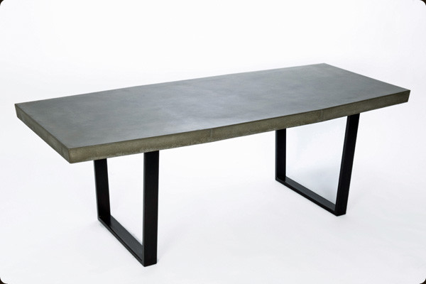 The 39 taper table 39 concrete and steel dining table scandinavian dining tables denver by - Scandinavian kitchen table ...
