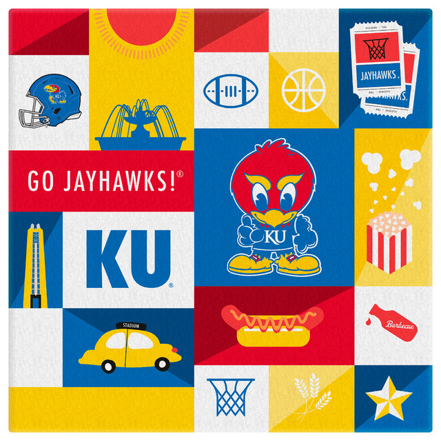 Kansas Jayhawks Kids Canvas Square Contemporary Prints
