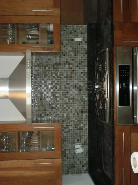 Mosaic Tile Kitchen Backsplash rustic-kitchen