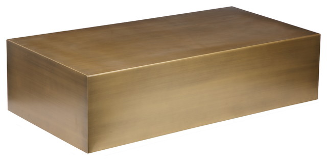 Spencer Coffee Table, Brass Contemporary Coffee Tables
