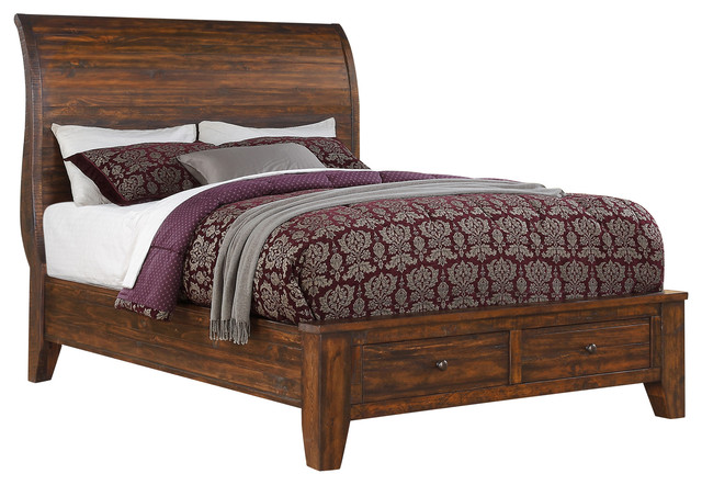 Cally Solid Wood Storage Bed, Queen.