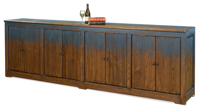 Ellery Blue Sideboard Rustic Buffets And Sideboards