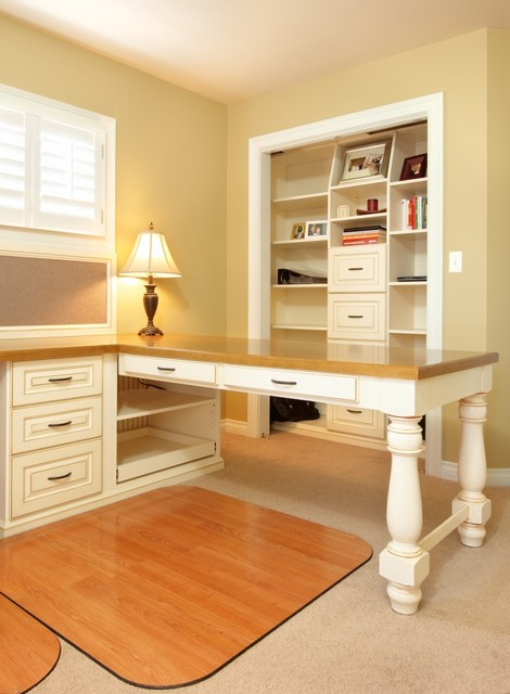 Spare Room Transformed Into Home Office Traditional