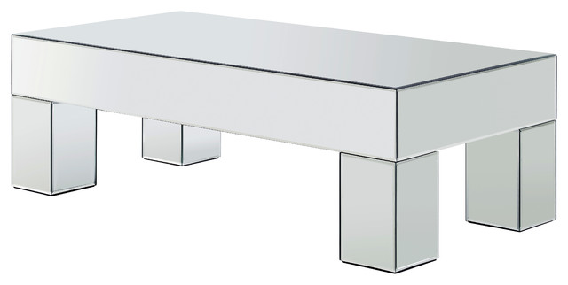Lainy Mirrored Coffee Table Contemporary Coffee Tables By