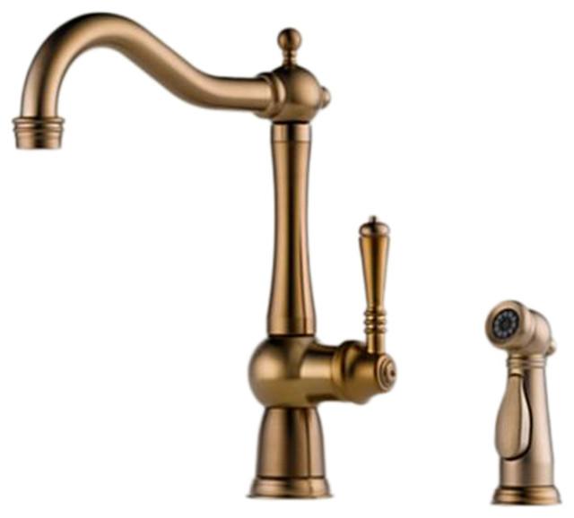 Brizo LF BZ Tresa Brushed Bronze Kitchen Faucet with