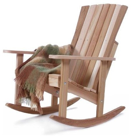 All Things Cedar Athena Red Rocking Chair