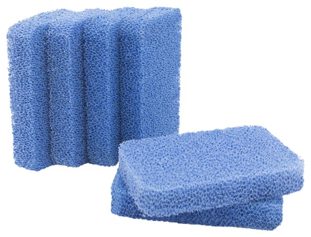 Sinkology Non-Scratch and Odor Resistant Silicone Breeze Scrubber, 6 Pack