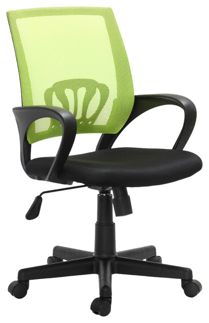 "Vidaxl Office Chair Plastic, Black And Green, 35.4""-39.8""."