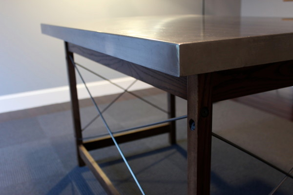 Stainless Steel Desk Contemporary Desks And Hutches