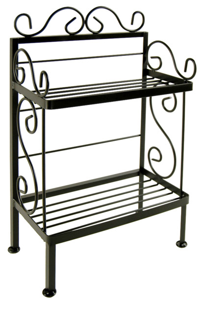 Shop Houzz | All About The Home Wrought Iron Plant Stand - Baker's Racks