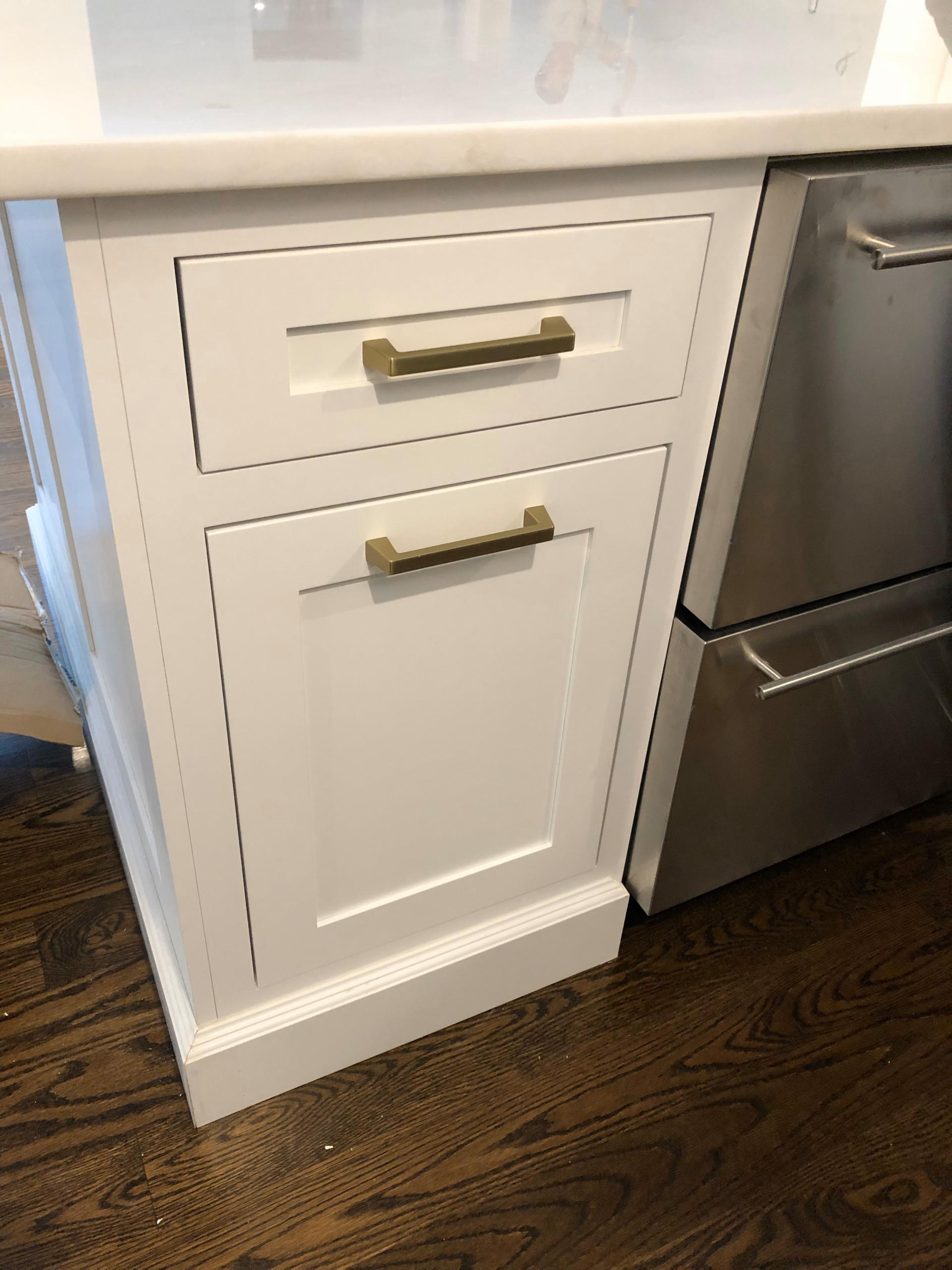 Detail of Woodland Kitchen Cabinet