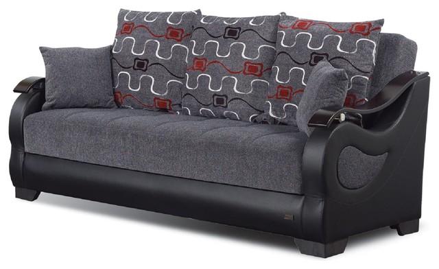 Empire Furniture USA Arizona Upholstered Convertible Folding Sofa ...