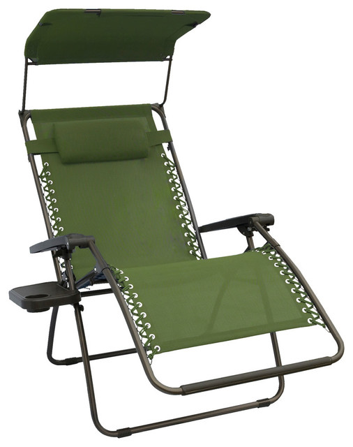 Bliss hammocks bliss hammocks extra wide gravity free for Canopy chaise lounge
