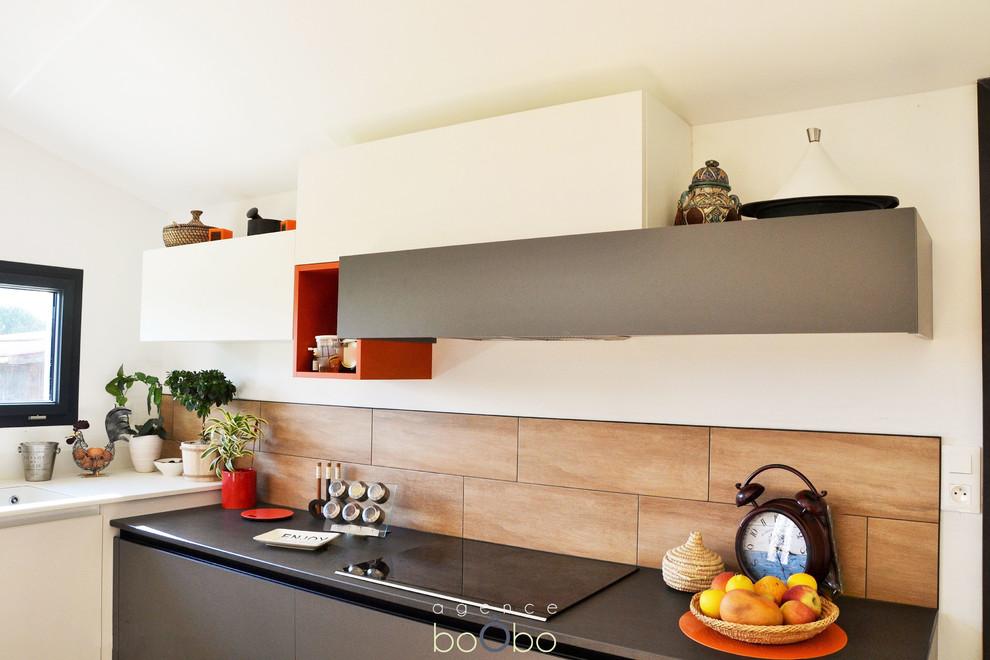 Aménagement d'une cuisine ouverte sur séjour