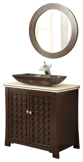 30 Quot Vessel Sink Giovanni Bathroom Vanity And Mirror
