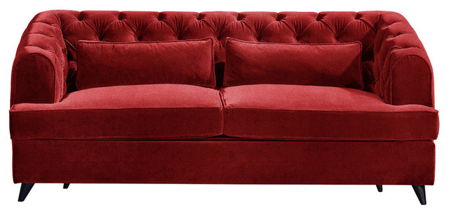 Earl Grey Sofa Bed, Vermillion, 2-Seater, 113x186 cm