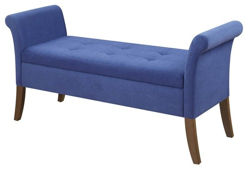 Garbo Storage Bench in Blue