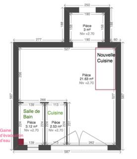 Help d placer une cuisine dans un studio et l 39 am nager for Transformer un studio en 2 pieces