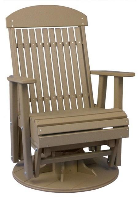 Classic Highback Swivel Glider Chair Modern Outdoor
