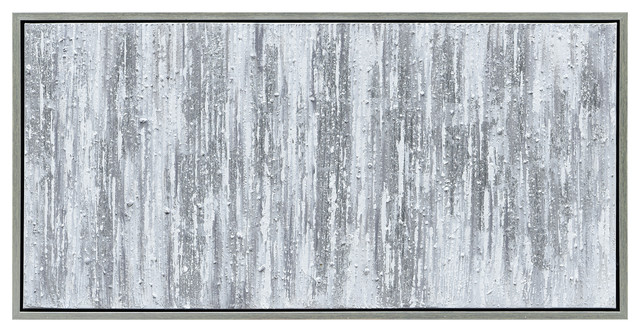Silver Abstract Textured Metallic Hand Painted Wall Art by Martin Edwards