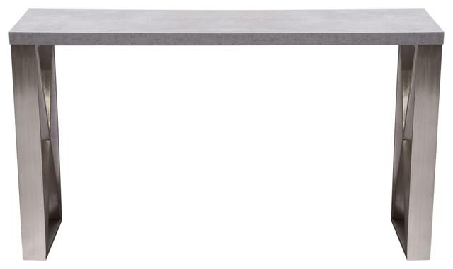 Console Table, Faux Concrete Finish.