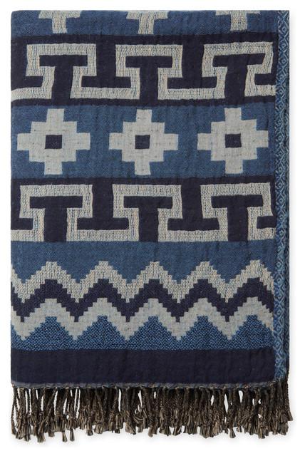 Jacquard Cotton, Wool Throw