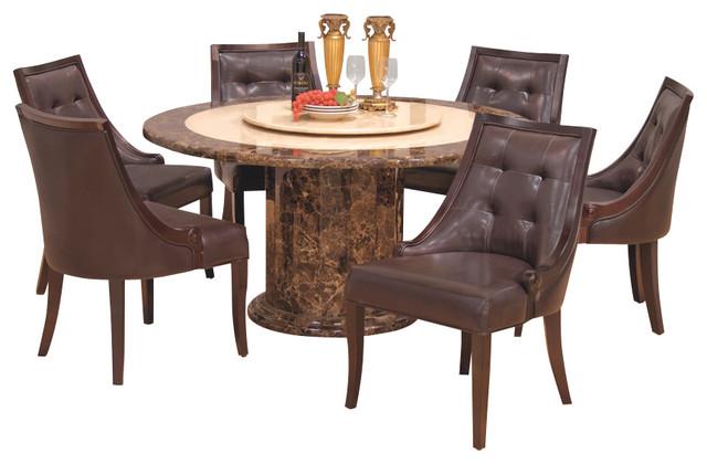 Shop Houzz Furniture Import Amp Export Inc 7 Piece Round